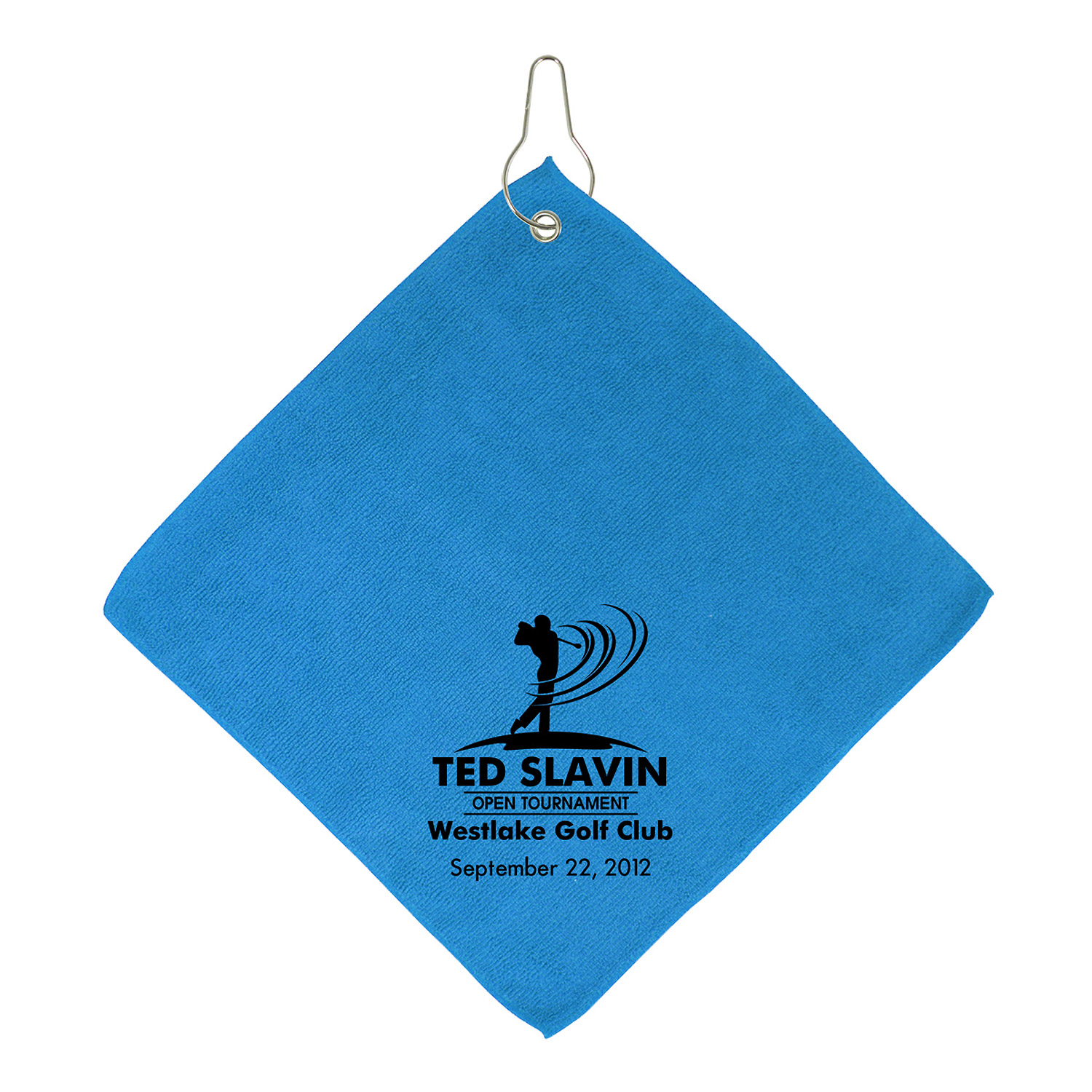 Microfiber Golf Towel With Dye Sublimated Header Push Promotional Standard Augusta Microfibre