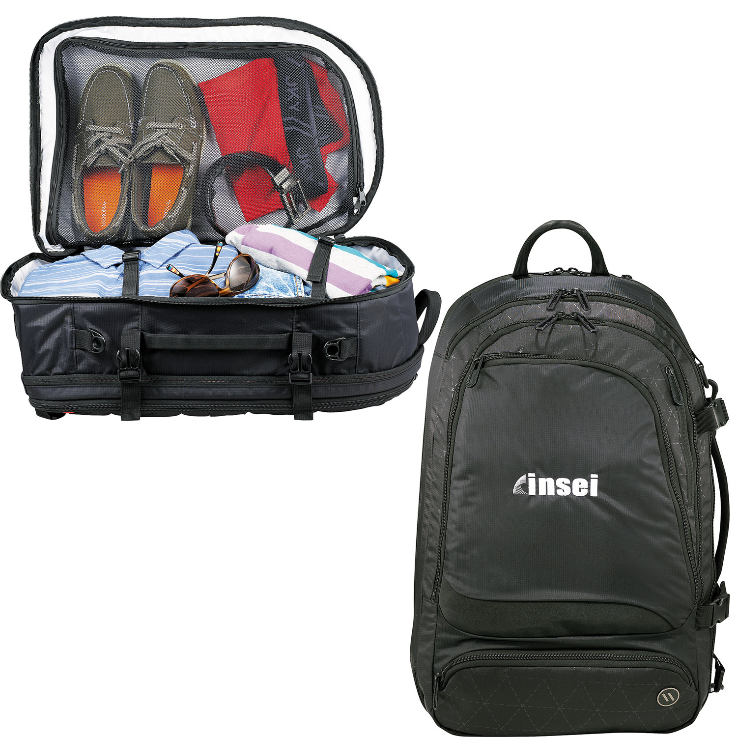 Elleven™ Traverse Convertible Travel Backpack - Push Promotional ...