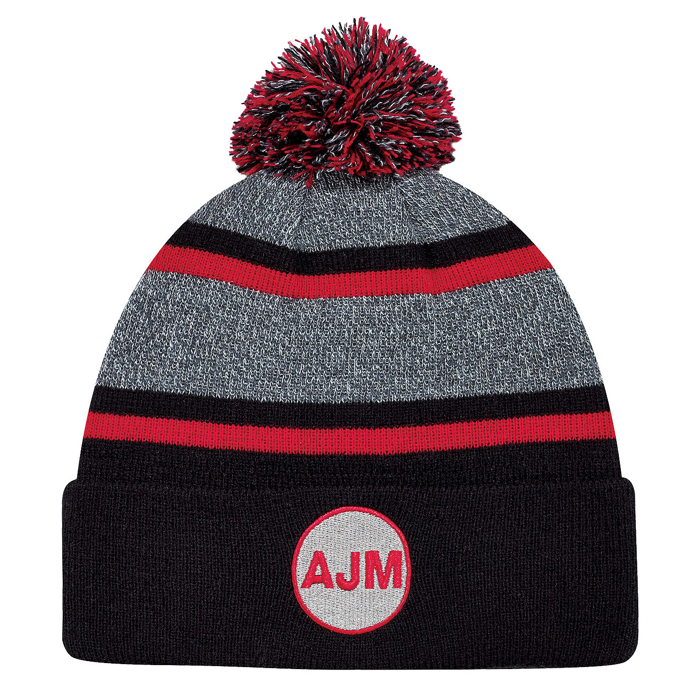 895cce76c78 Marl   Stripe Board Toque With Pom - Push Promotional Products -  Promotional Products